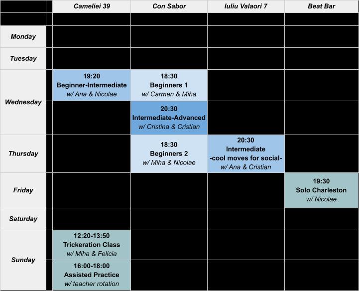 SSB Class Schedule